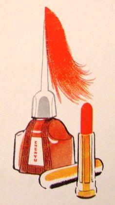 Chen Yu Lipstick & Nail Polish, 1953