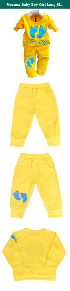 Mosunx Baby Boy Girl Long Sleeve Little Feet Shirt Pant Set Clothing (20-24 Month, Yellow). Specifications: Gender:Girls Neckline:O-Neck Sleeve Length:Long Sleeve Pattern:Little Feet Sleeve Style:Regular Pant Style:Trousers Style: Casual Material:Polyester Cotton Color: Red, Yellow Package include:1PC Shirt,1PC Pant.