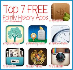 """If you're just getting started with your family history or you're a """"Rock Star Genealogist"""", many don't know about these free apps out there. So, I wanted to share my Top 7 FREE Family History Apps for your iPad or iPhone,"""