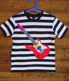 Camiseta rayas guitarra / Mar Robles - Artesanio