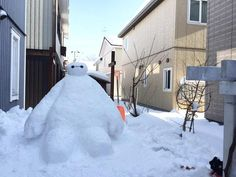 Baymax in snow!  Amazing!