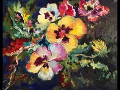 Pots  of  Flowers - A Beginner Acrylic Painting Tutorial by Ginger Cook - YouTube