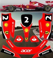 Go Kart Racing Graphics Kit Decal Sticker Wrap For KG EVO Stilo INLINE RED BLACK