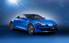 Alpine A110, 2018, Sports cars, blue Alpine, presentation