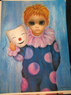 Walter Margaret Keane BIG EYES Sad Clown Boy Happy by kookykitsch