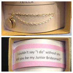 For my sister and junior bridesmaid!! Our initials on a necklace.