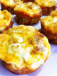 Sausage & Goat Cheese Quiche Muffins