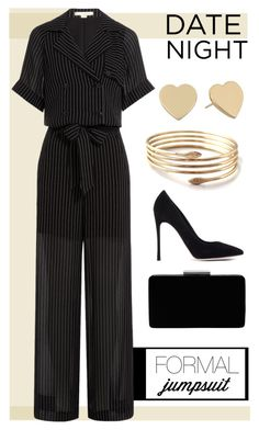 """""""jumpsuit"""" by bluemerant ❤ liked on Polyvore featuring Gianvito Rossi, John Lewis, Kate Spade, Alexander Wang, DateNight and jumpsuit"""