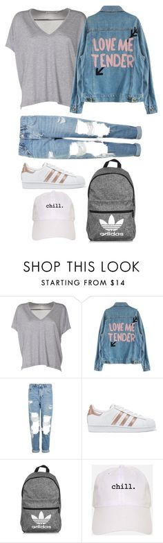 """husnaidy"" by wanderlustpan ❤ liked on Polyvore featuring Acne Studios, Topshop, adidas Originals and adidas"