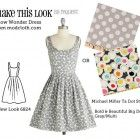 Make This Look: Snow Wonder Dress.  Sew Weekly matches up Modcloth dresses with patterns to make them