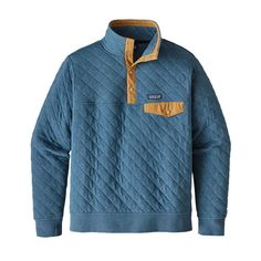 ? - M's Cotton Quilt Snap-T® Pullover, Bay Blue (BYBU)