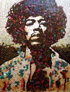 Celebrity portraits made from hundreds of tiny tile fragments - Artist Ed Chapman #Art #CelebrityArt