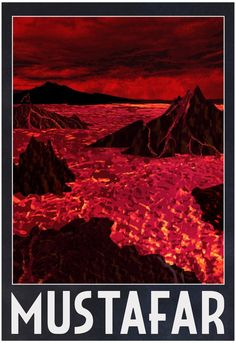Mustafar Retro Travel Poster 13 x with Poster Hanger: This versatile and affordable poster delivers sharp, clean images and a high degree of color accuracy. Your poster is printed with an offset lithography press with a coating to protect the inks. Buy Posters, Cool Posters, Travel Posters, Retro Posters, Star Wars Poster, Star Wars Art, Star Trek, Photo Star, Movie Poster Art