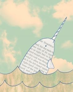 Narwhals narwhals swimming in the ocean causing a commotion because they are so awesome
