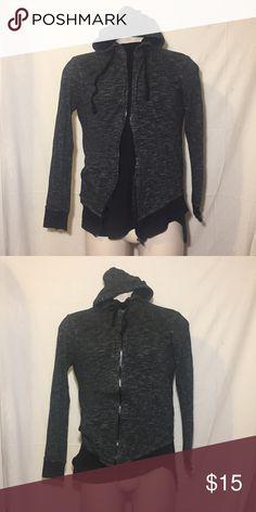 Heathered Gray Zip-Up Hoodie Heathered gray zip-up hoodie by Hudson & Barrow Hudson & Barrow Shirts Sweatshirts & Hoodies