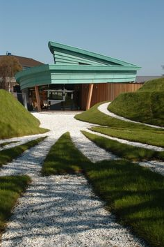 Highlands Maggie's Cancer Caring Centre in Inverness, Scotland by Page/Park Architects and Garden/labyrinth by Charles Jecks