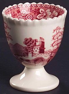 Spode Tower Pink Egg Cup