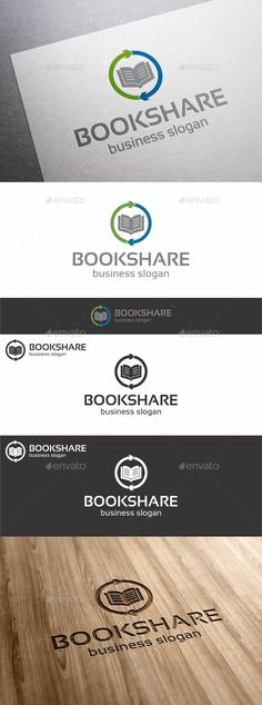 Book Share Logo Template — Vector EPS #book store #e-books • Available here → https://graphicriver.net/item/book-share-logo-template/11540586?ref=pxcr