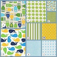 Custom Crib Bedding Set-YOU DESIGN -choose your fabric-Urban Zoology for the Boys. $238.00, via Etsy.