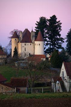 Château de Verseille in Saint Etienne de Vicq in the Montagne bourbonnaise (Allier, Auvergne, France)