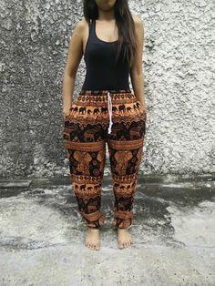 elephant hippie tribal pattern joggers sweatpants