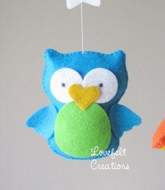 READY TO SHIP Baby Crib Mobile Baby Mobile Owl par LoveFeltXoXo