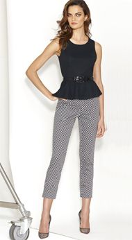Peplum Top and 7th Avenue Printed Crop Pants #NYStyle #NY #RiverchaseGalleria