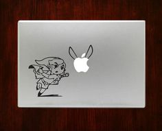 Link Zelda Chasing Navi Macbook Decal Stickers