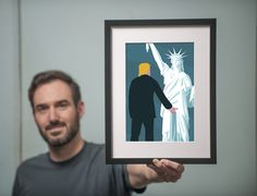 Meet the German artist whose viral Trump-Statue of Liberty illustration took over the Women's March