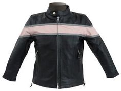 body-adorning kids leather jacket