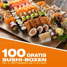 Sushi Box, 5 September, Kitchen In, Cobb Salad, Asian, Meat, Food, Boxing, Clock