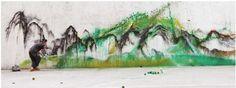 色彩山水 (Color landscape) by Hua Tunan. Art Experience:NYC http://www.artexperiencenyc.com/social_login