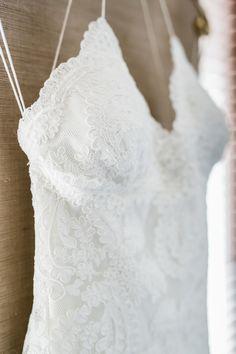 Lace halter wedding dress: http://www.stylemepretty.com/california-weddings/santa-monica/2016/04/27/a-romantic-wedding-at-a-santa-monica-restaurant/   Photography: Alex Warschauer - http://www.alexwphotography.com/