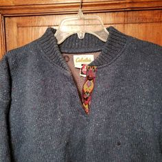 ad33c5d3ad415 Cabela's Quarter Button Wool Gore Wind Stopper Pull-Over Women's Large Green  USA