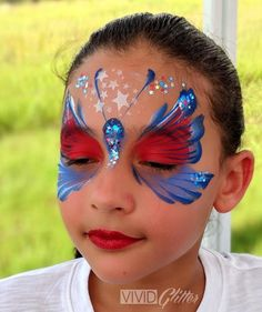 by Silly Heather Painting Tattoo, Body Painting, Bike Parade, 4th Of July Makeup, Let Freedom Ring, Face Painting Designs, Butterfly Design, Cute Crafts, Painting For Kids