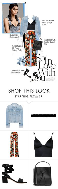 """""""04 06 2017"""" by umi-sonoda ❤ liked on Polyvore featuring rag & bone, Tim Holtz, Alexis Mabille, Calvin Klein Jeans, T By Alexander Wang and 3.1 Phillip Lim"""