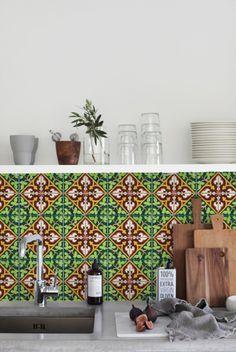 Kitchen Walls SPAANSE TEGEL | KitchenWalls | kitchen wallpaper