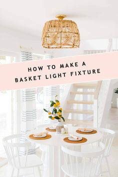 For a modern take on the farmhouse trend try this DIY basket light fixture! We share the step by ste For a modern take on the farmhouse trend try this DIY basket light fixture! We share the step by st Industrial Light Fixtures, Outdoor Light Fixtures, Outdoor Lighting, Lighting Ideas, Cheap Light Fixtures, Ikea Light Fixture, Industrial Lighting, Diy Interior, Interior Modern