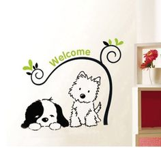wall decals dog - Google Search