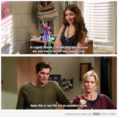 Legally Blonde via Modern Family - lol modern family quote