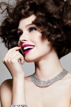 Perfect skin and pretty curly hair #love #curlyhair eSalon.com