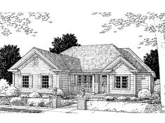 Eplans Country House Plan - Three Bedroom Country - 1344 Square Feet and 3 Bedrooms from Eplans - House Plan Code HWEPL60786