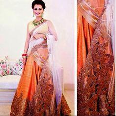 Dia Mirza's wedding reception dress
