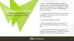 Depression Tips 2 from the National Institute of Mental Health