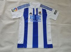 2015-2016 Real Sociedad Home White Blue Jersey Football Shirts 42e48c26c