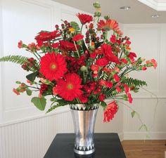 Flower arrangement for Pentecost