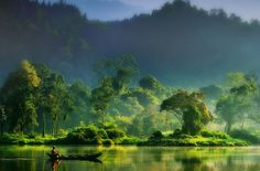 Painting of Nature. To me, this is a picture of serenity and tranquility. Photo by hardibudi