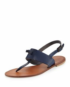 Bastia Knot Thong Sandal, Cobalt by Joie at Neiman Marcus.