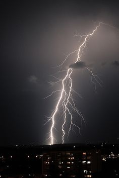 Listen the thunder, see the flash - enjoy the moment of storm!