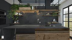 Przebudowa domu - Średnia zamknięta kuchnia w kształcie litery l z wyspą z oknem, styl industrialny - zdjęcie od UNIQUE INTERIOR DESIGN